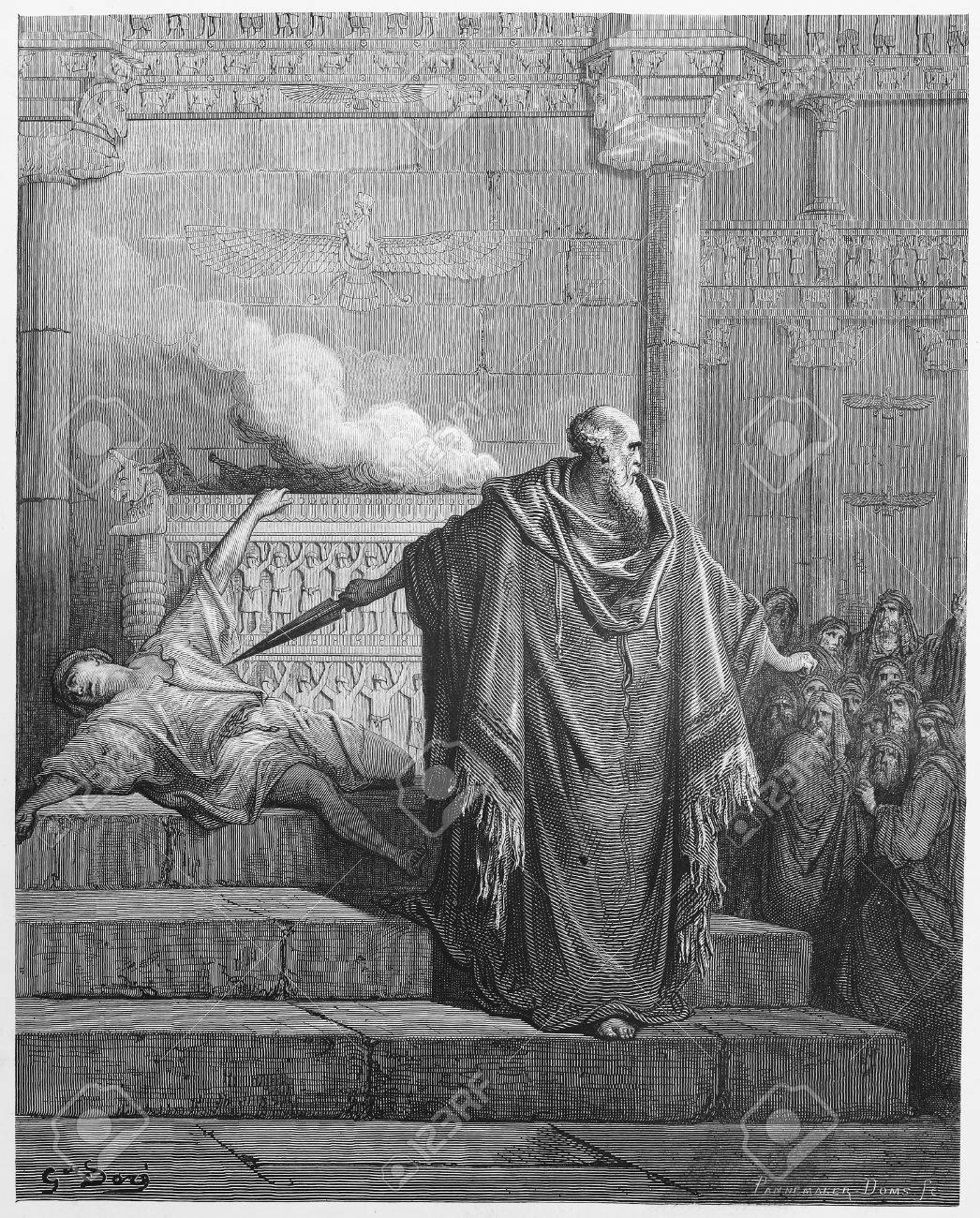 Mattathias and the Apostate - Picture from The Holy Scriptures,