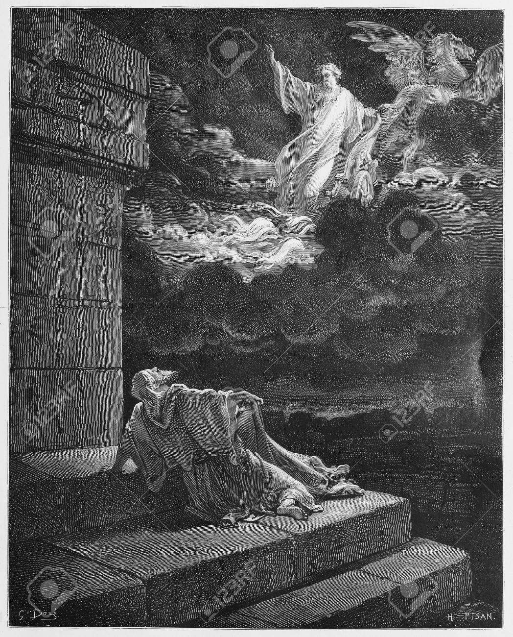 エリヤ上昇天国に火 - 聖書から...