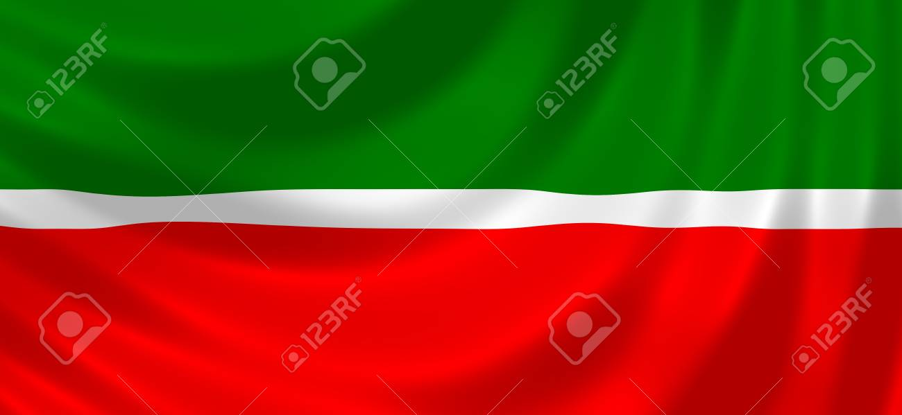 flag of russian federal republic of tatarstan waving in the wind