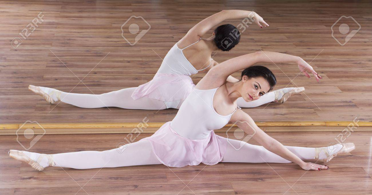 Young ballerina woman training Stock Photo - 17416426