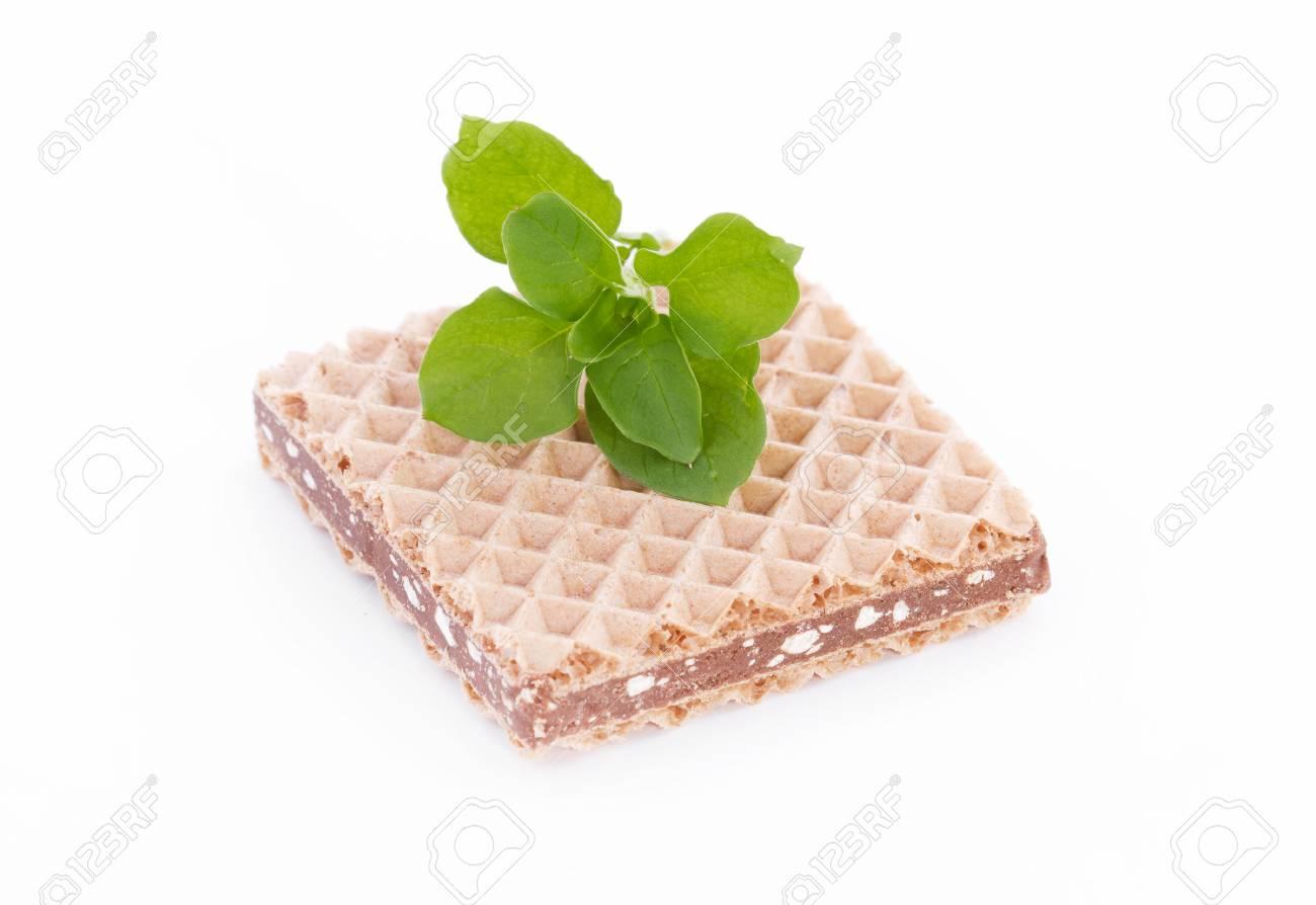 Chocolate crackers sandwich isolated Stock Photo - 23158121