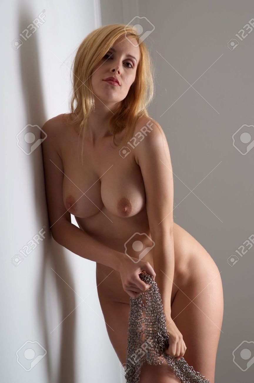 Sexy Naked Blonde Stripping