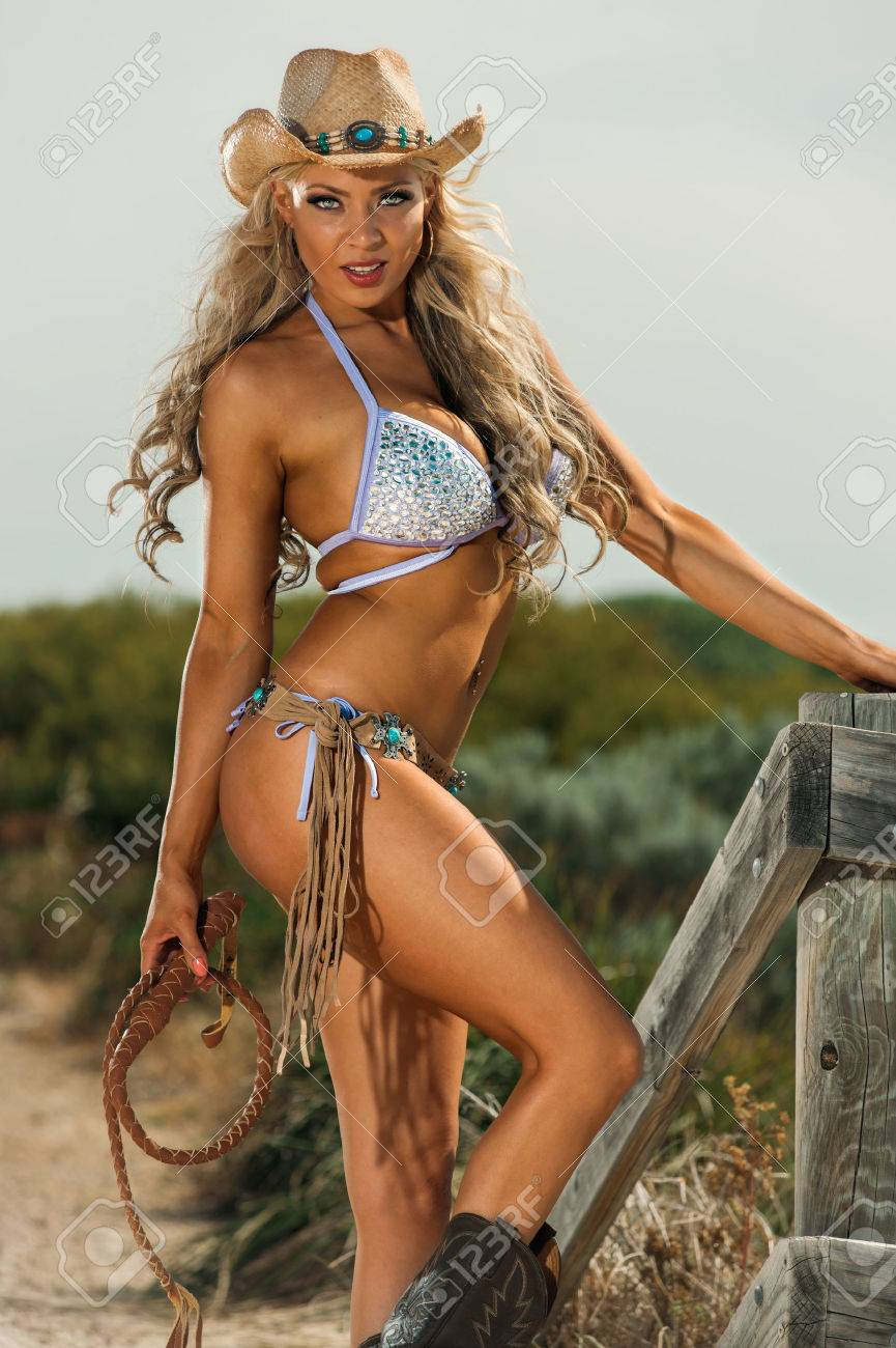 sexy cowgirl stock photo, picture and royalty free image. image