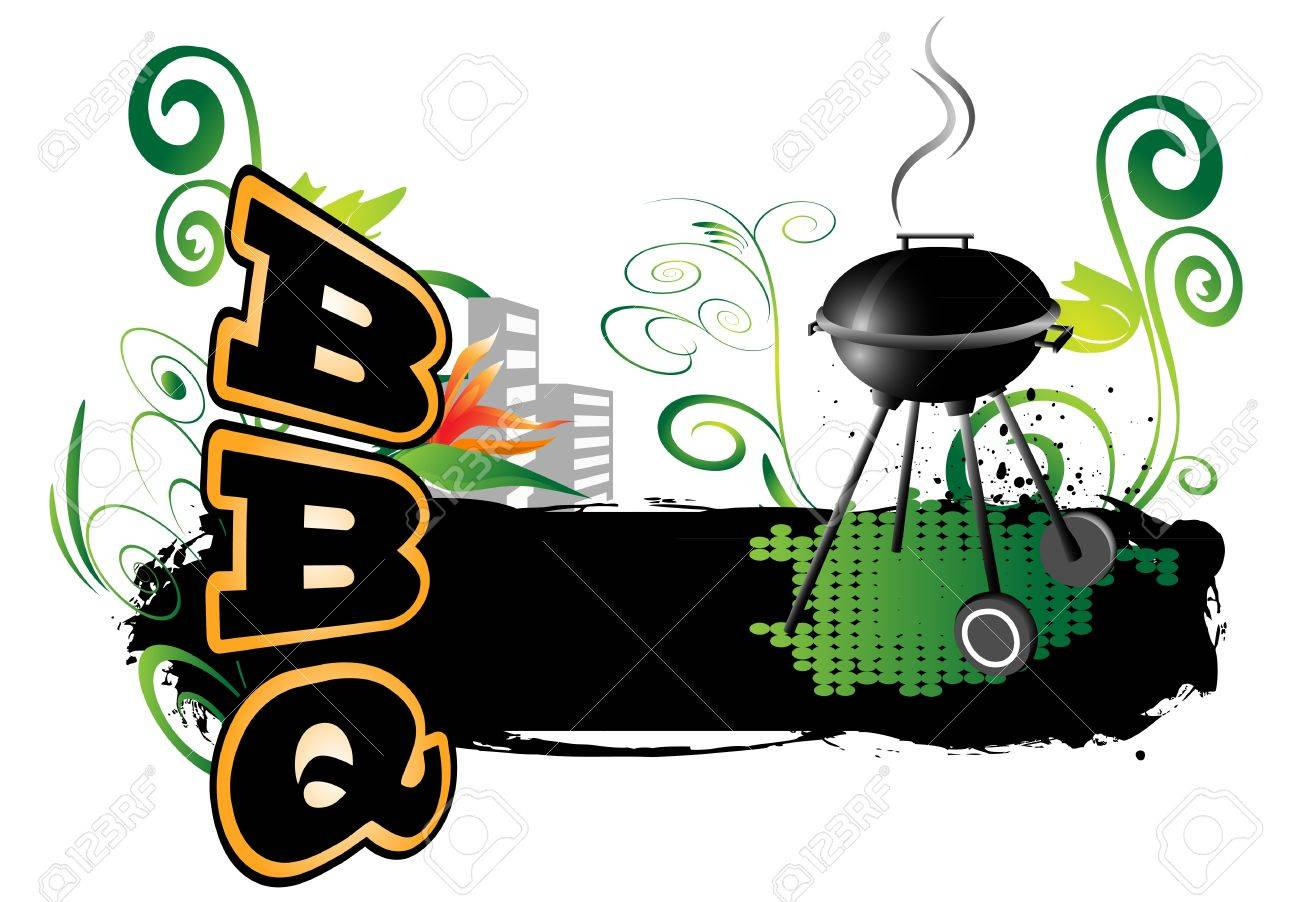 Cookout border clipart hot dog cookout invite stock vector art - Cookout Background Bbq Background