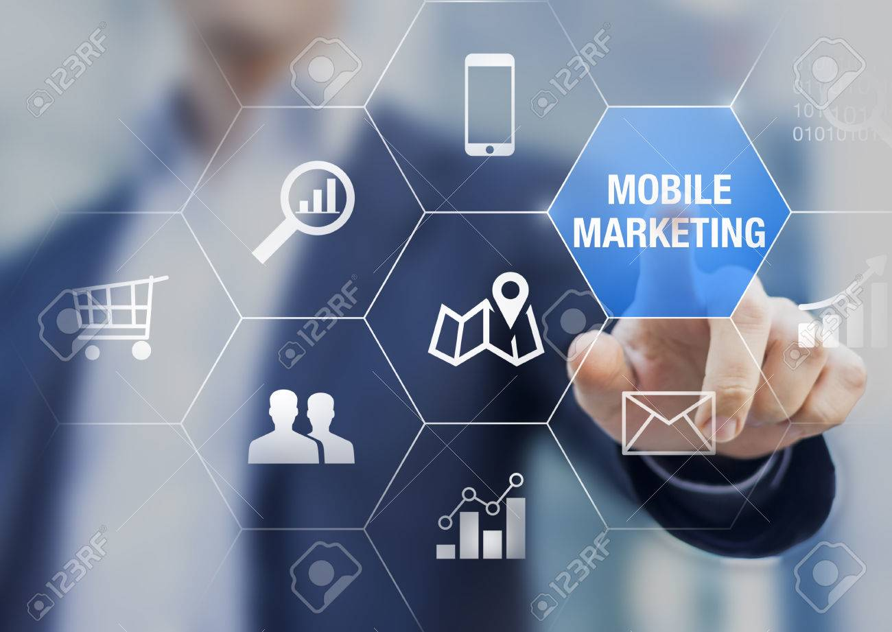 Mobile marketing and e-commerce data analytics concept with a