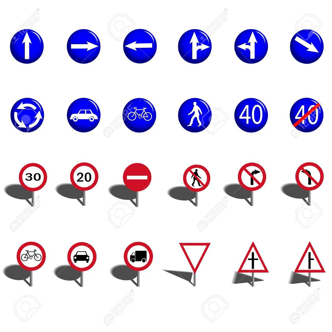 Traffic signs Stock Vector - 17098753