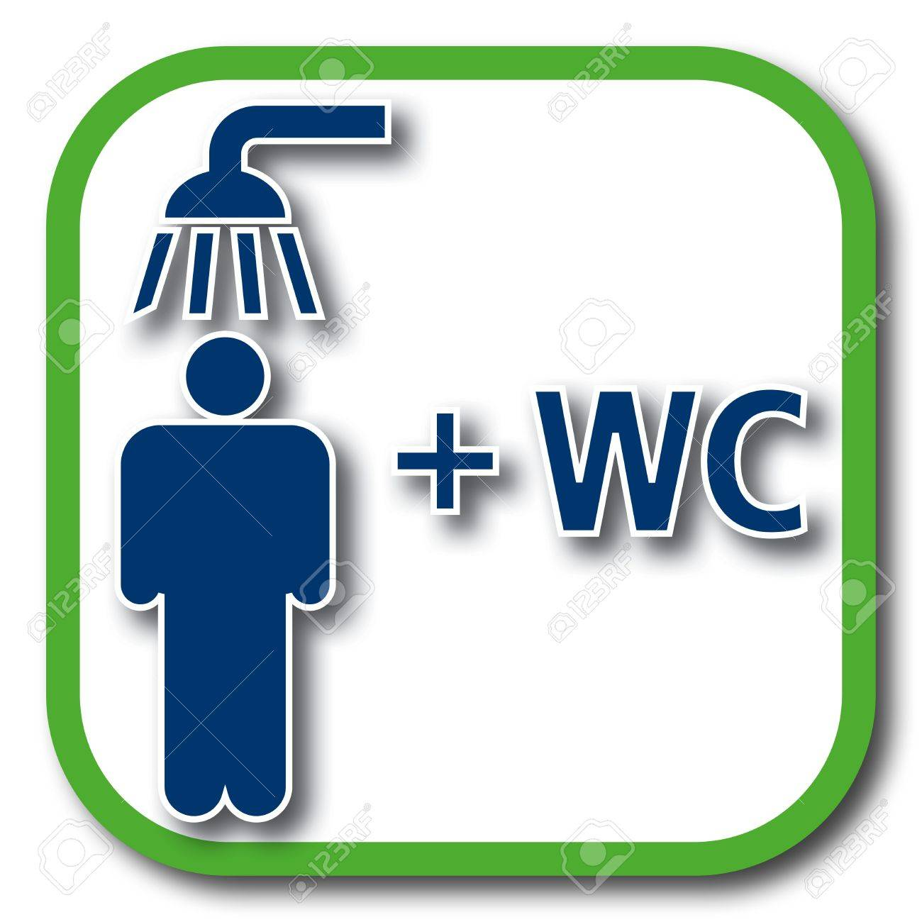 Dusche clipart  Shower Plus Wc Icon Royalty Free Cliparts, Vectors, And Stock ...