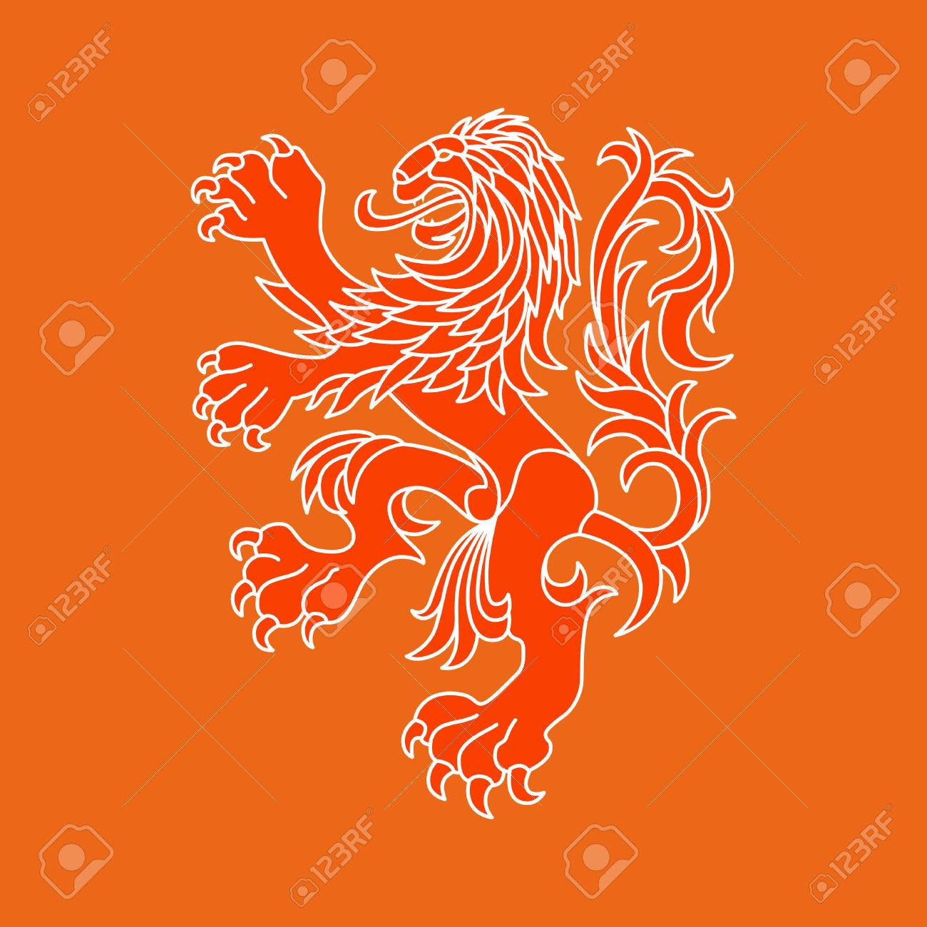 Dutch Flag Lion