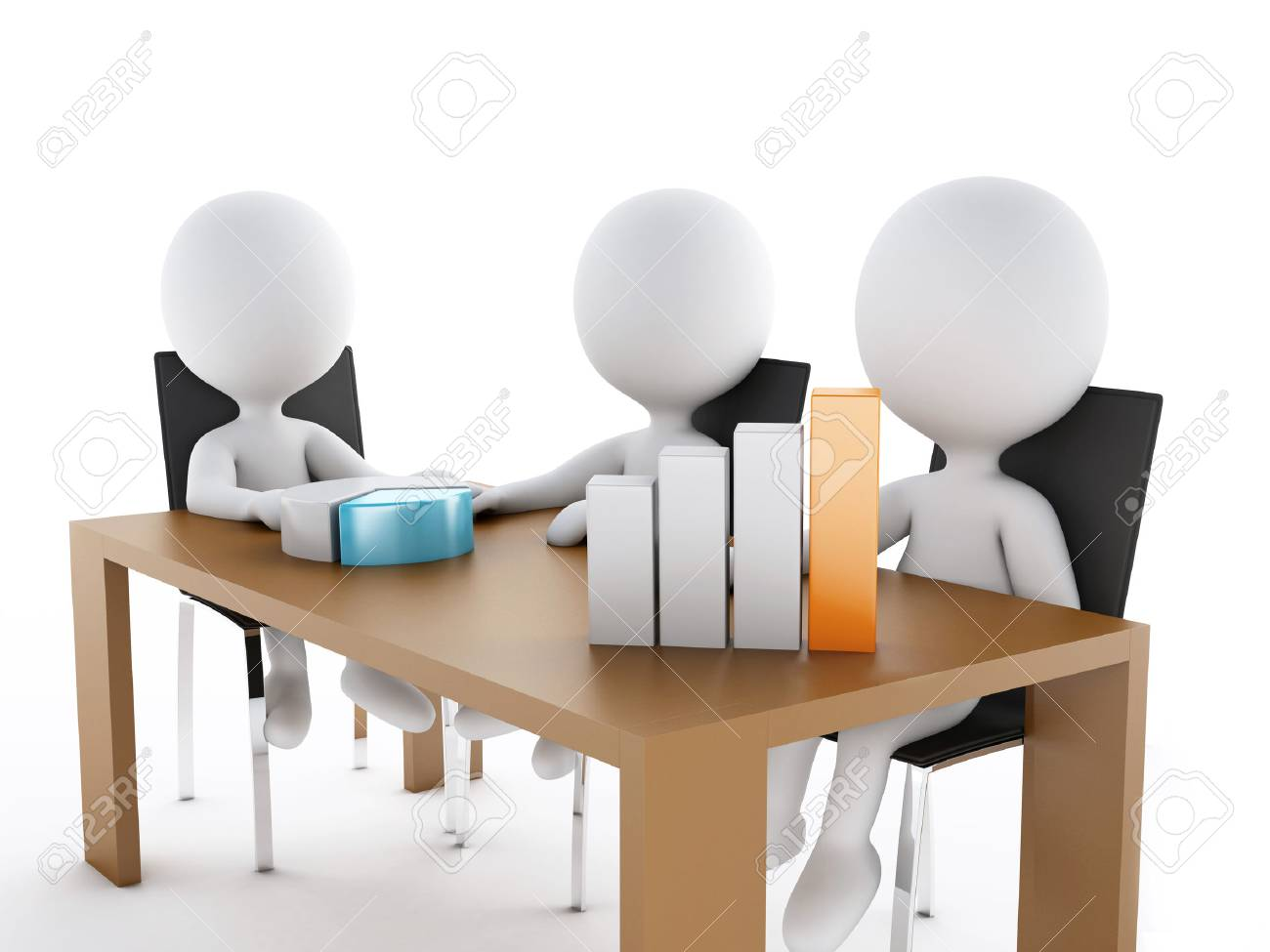 Business People In A Office Meeting Room Partners On White