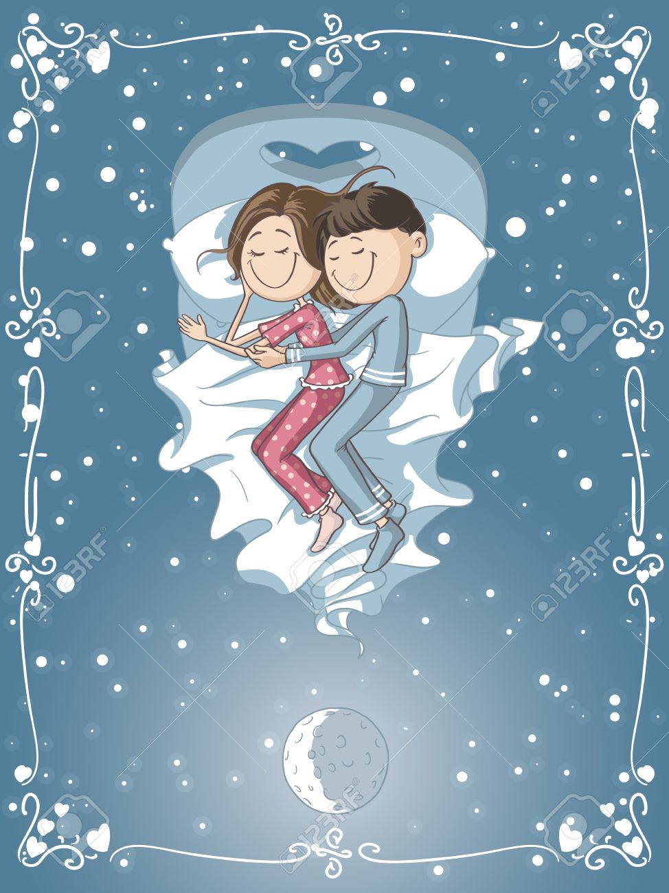 Romantic Sleeping Images Cartoon