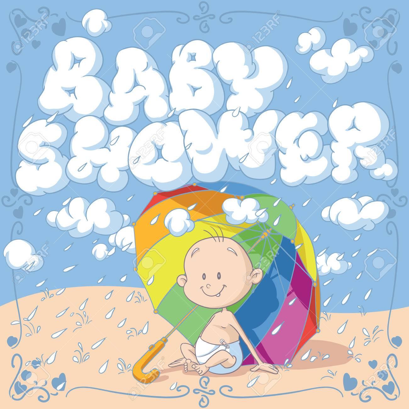 Baby shower vector cartoon invitation royalty free cliparts vectors baby shower vector cartoon invitation stock vector 41187708 stopboris Choice Image