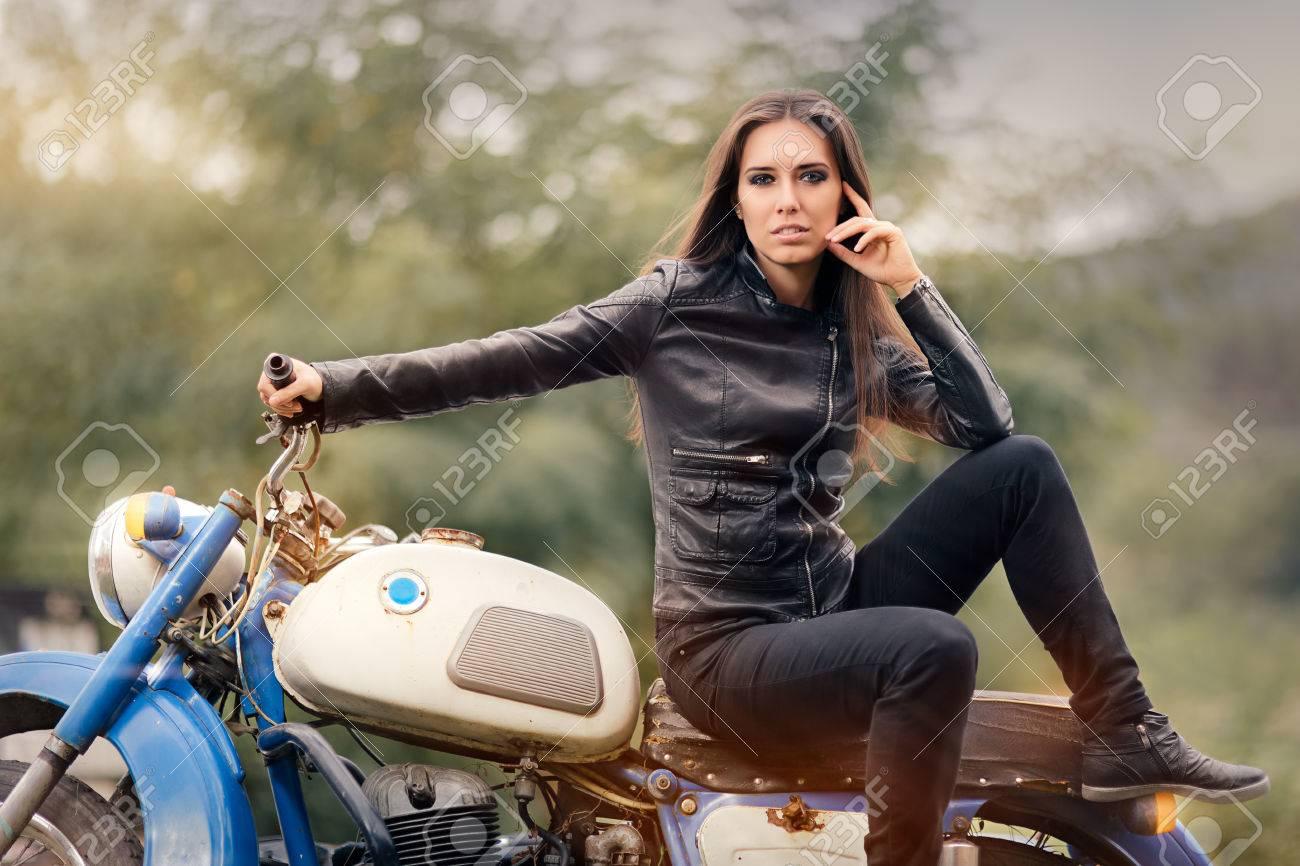 biker girl pics
