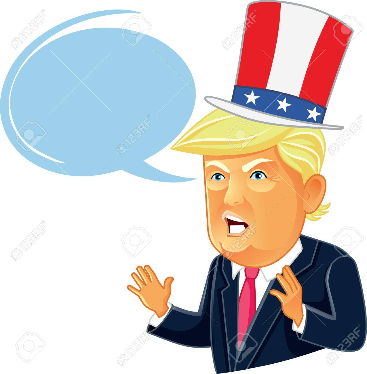 Image of: Showtime Editorial Caricature Donald Trump Cartoon With Speech Bubble Stock Photo 63096981 Shutterstock Editorial Caricature Donald Trump Cartoon With Speech Bubble Stock