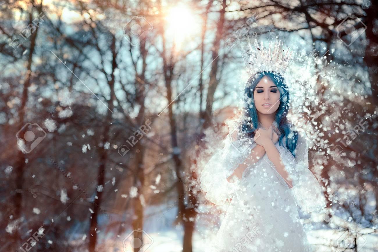 Snow Queen in Winter Fantasy Landscape - 67781335