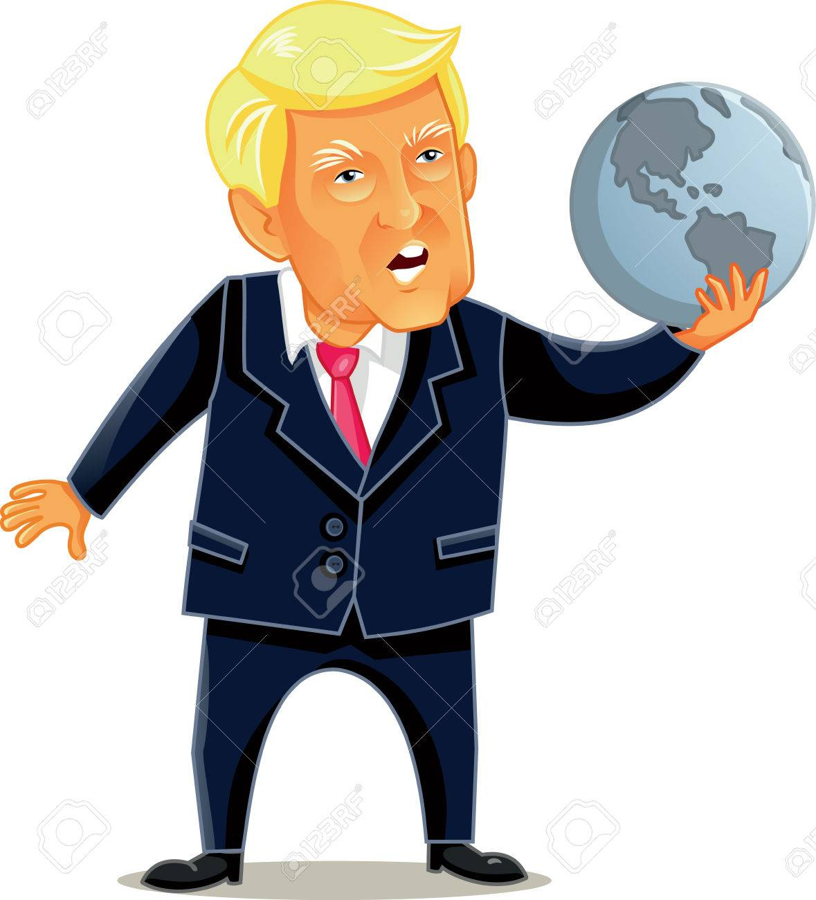 President Editorial Caricature Of President Donald Trump Holding World Globe Stock Photo 82535644 Stockfresh Editorial Caricature Of President Donald Trump Holding World Stock