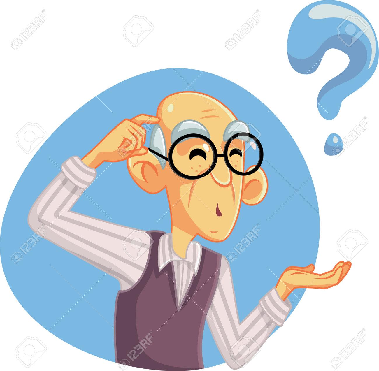 Senior Man Thinking Having Many Questions - 162562937