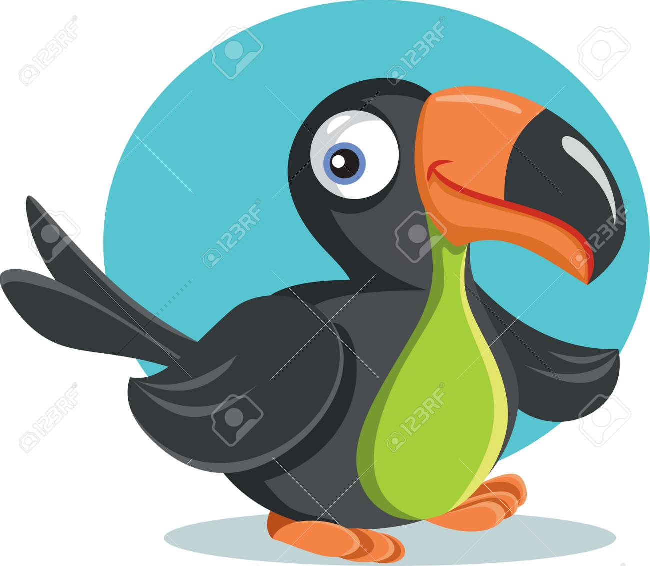 Funny Cartoon Toucan Bird Vector Illustration - 171317145