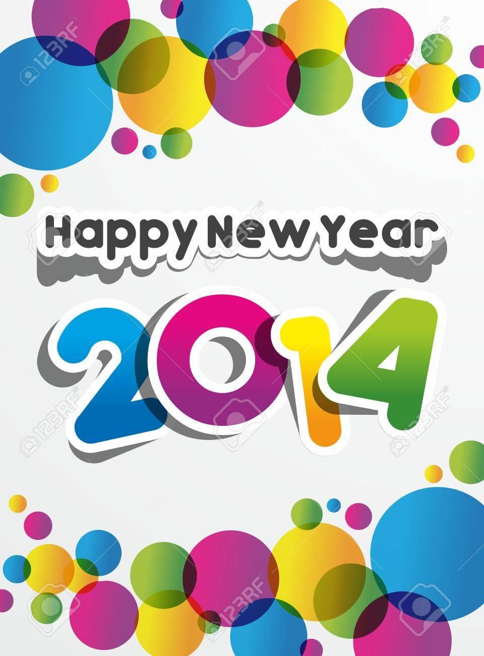 Happy New Year 2014 vector illustration Stock Vector - 22920403