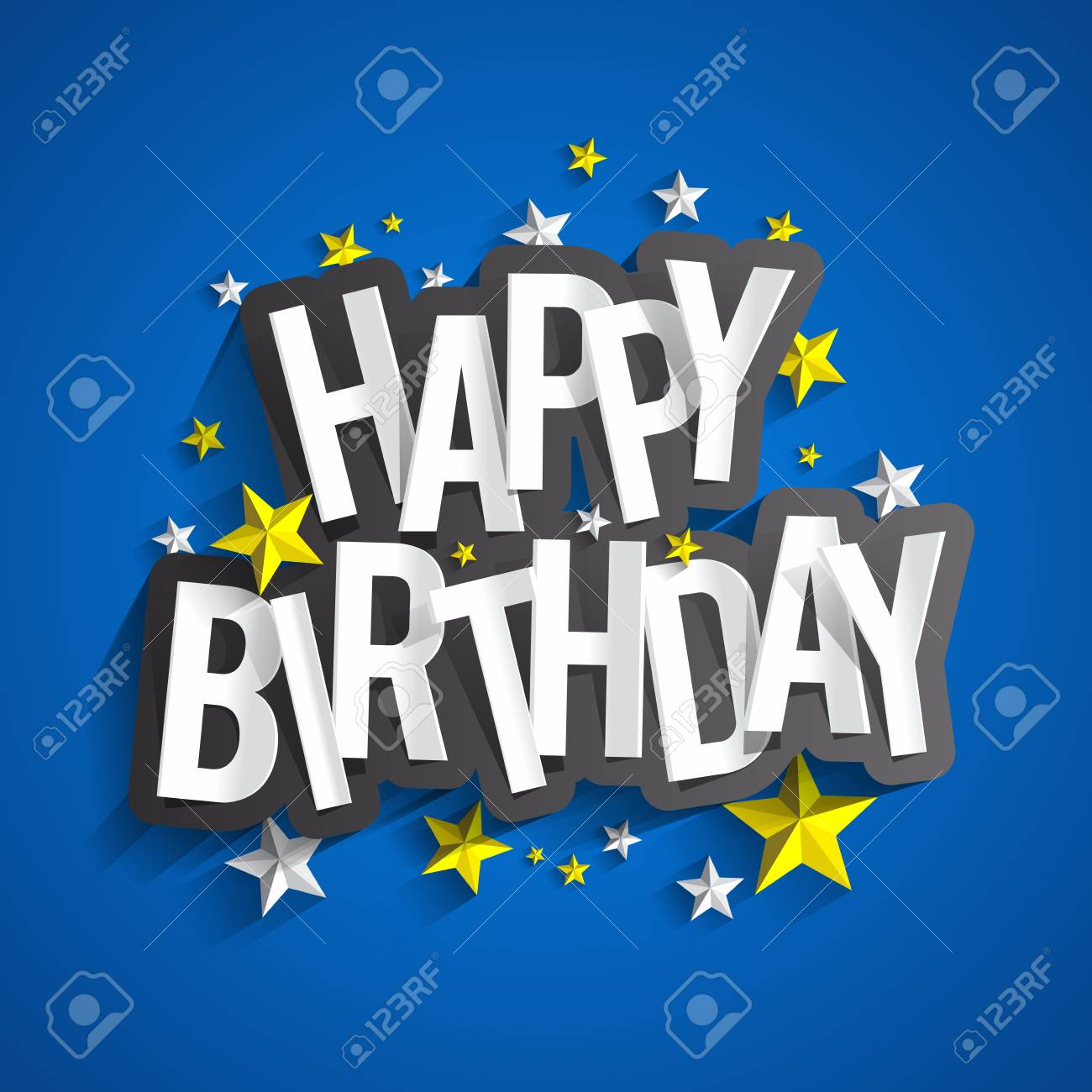 Colorful Happy Birthday Greeting Card Vector Illustration Royalty
