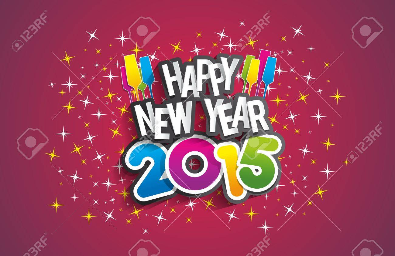 Happy new year 2015 greeting card vector illustration royalty free happy new year 2015 greeting card vector illustration stock vector 33126391 m4hsunfo