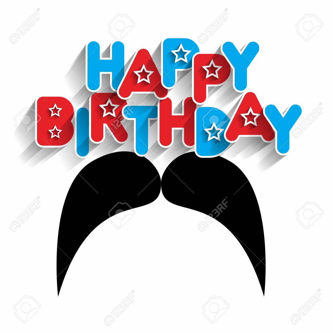 Happy Birthday Daddy Greeting Card Vector Illustration Royalty Free
