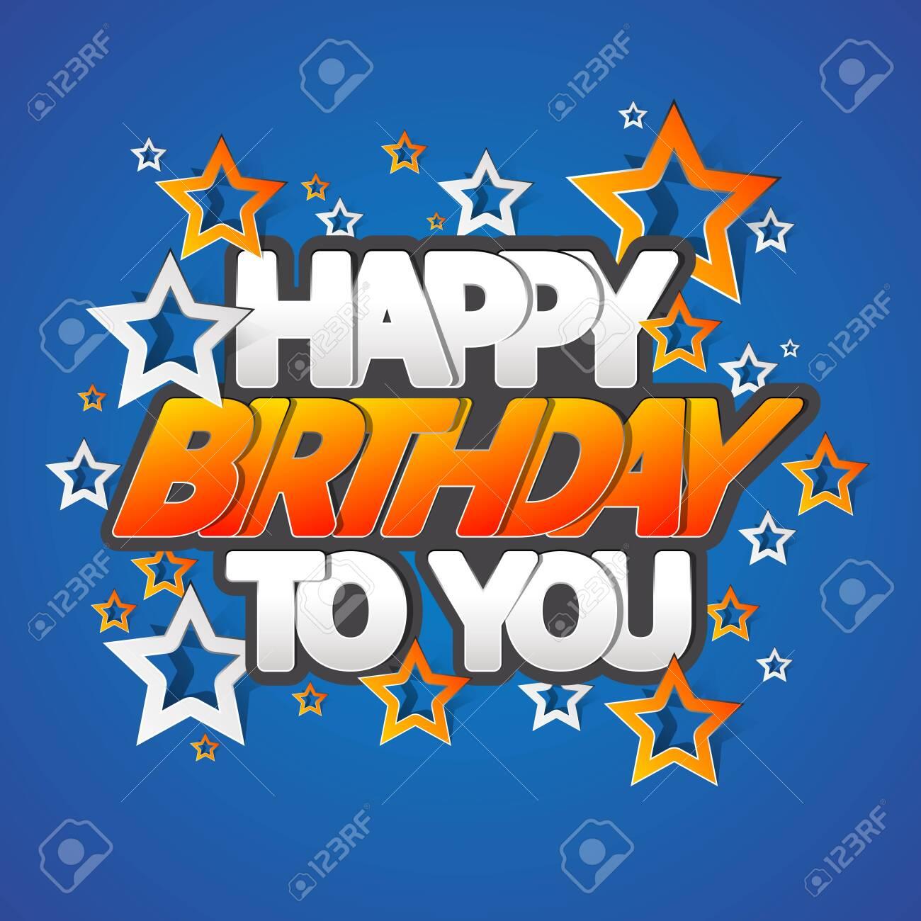 Happy Birthday Greeting Card Vector Illustration - 149515035
