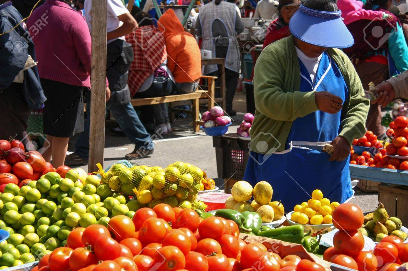 Fruits and vegetables on a market in Ecuador Stock Photo - 17656760