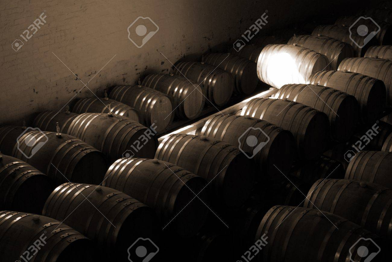 storage oak wine barrels. French Oak Barrels With Wine Being Stored In Pleisir De Merle Cellar Franschhoek, Storage