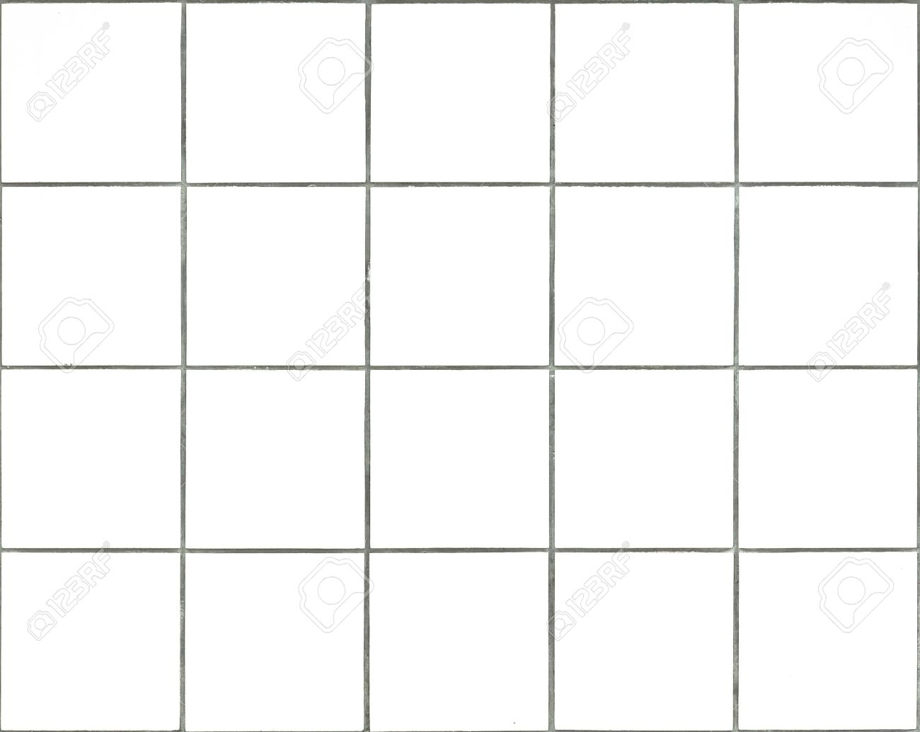 Seamless Tileable White Square Wall Tiles Stock Photo, Picture And ...