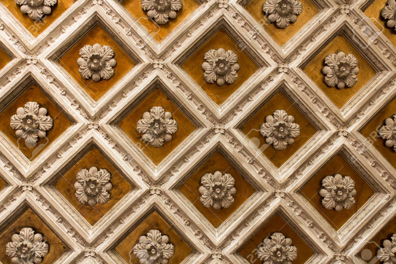 antique wooden ornamentet ceiling stock photo picture and royalty rh 123rf com antique wooden ceiling fans antique wooden ceiling fans