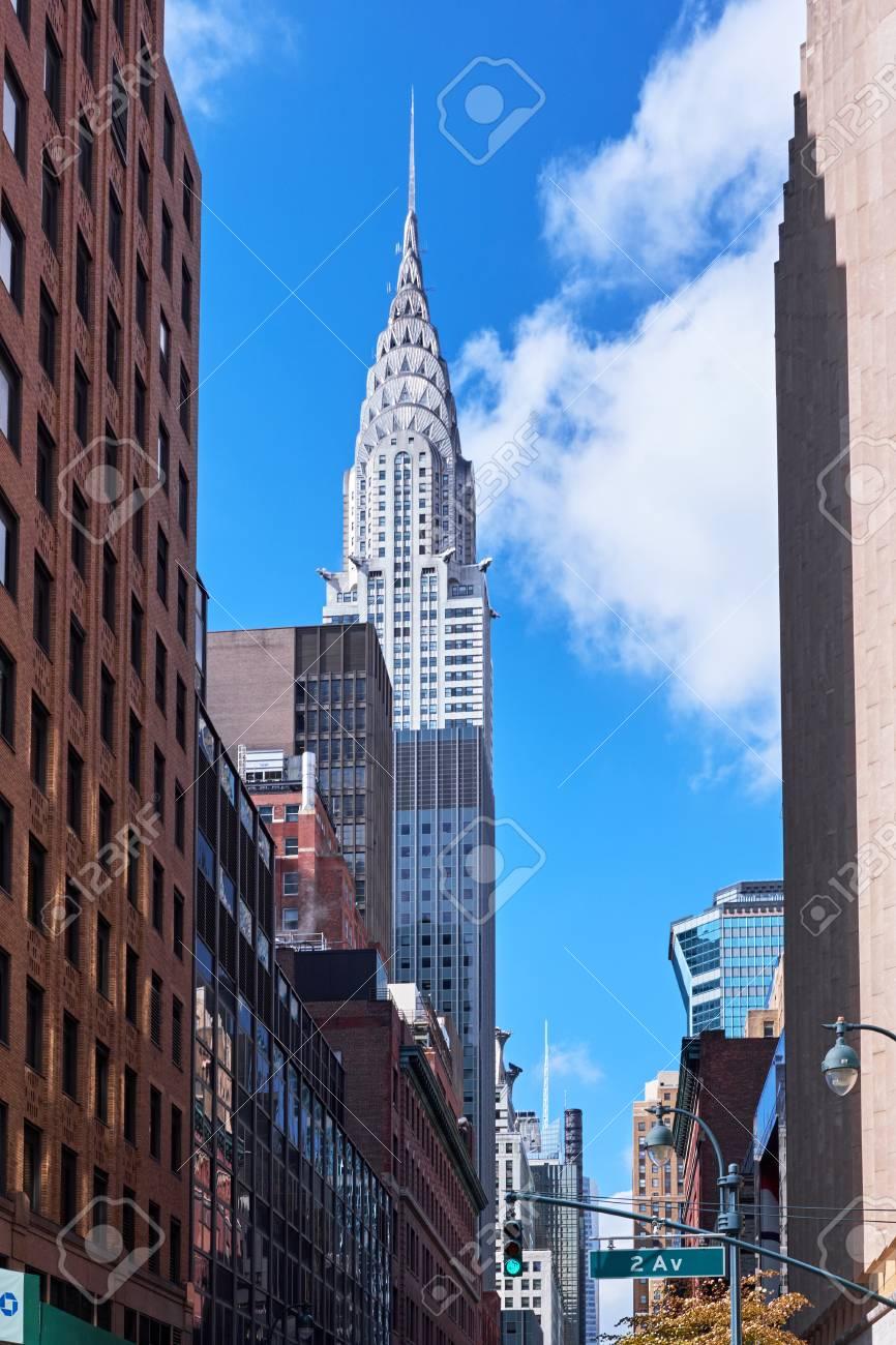2 番街からマンハッタンのクライスラービルにニューヨーク シティ ...