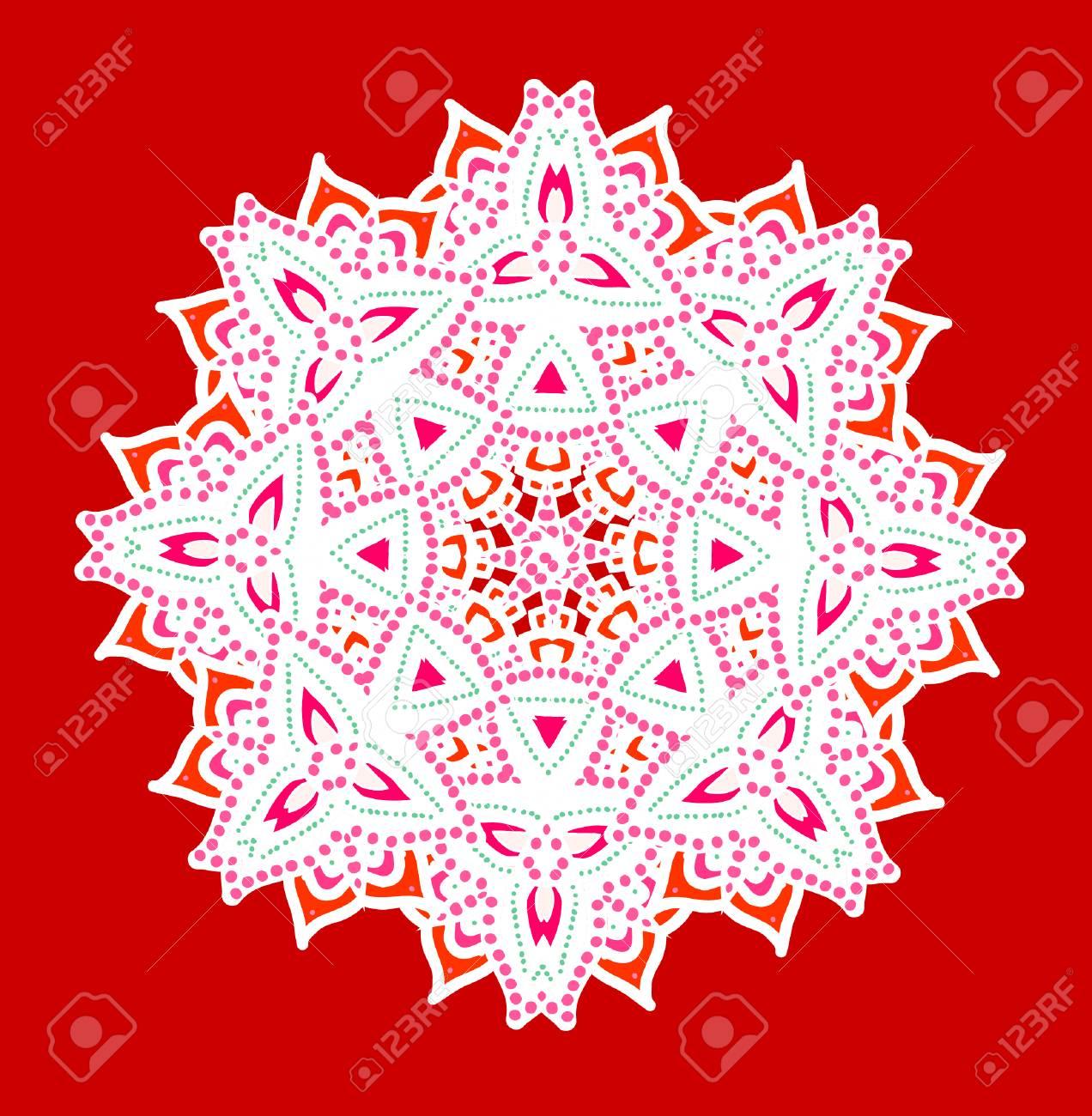 Ornamental Card With Mandala. Vintage Decorative Elements. Royalty ...