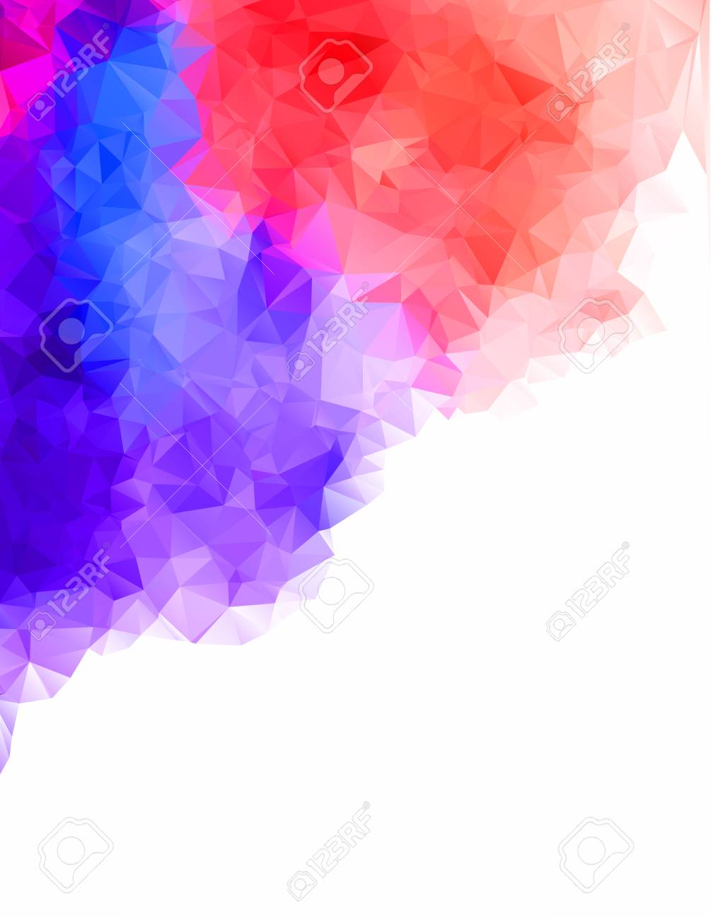 Abstract Geometric Colorful Background Of Triangular Polygons