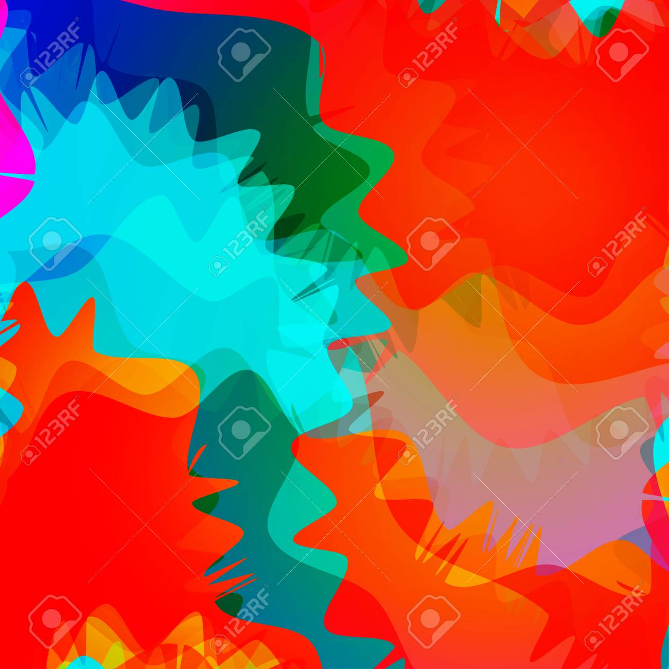 Abstract Colorful Wavy Background.Gradient Shiny Overlay. Bright ...