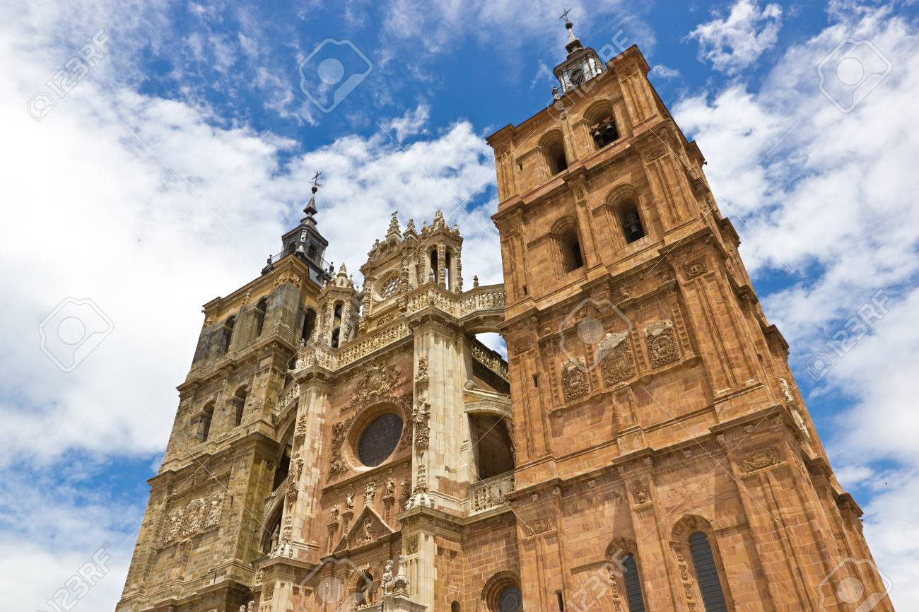 Facade of the Astorga cathedral Stock Photo - 14783664