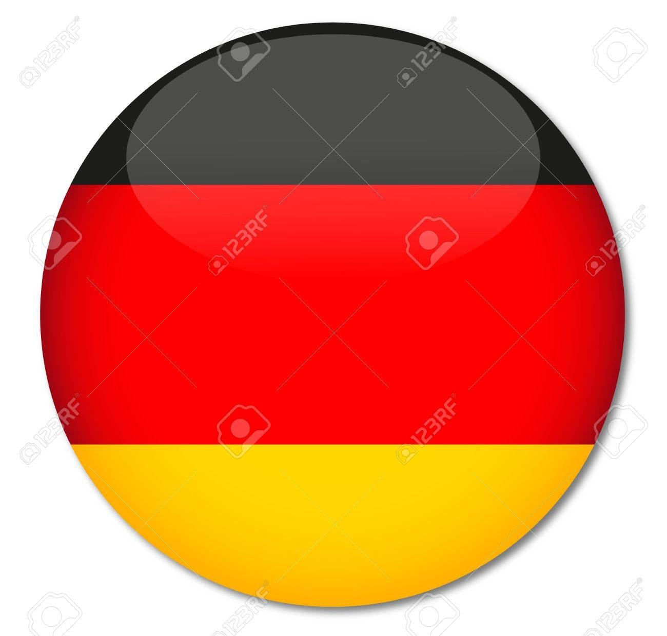 German Flag Glossy Button Stock Vector - 17211998