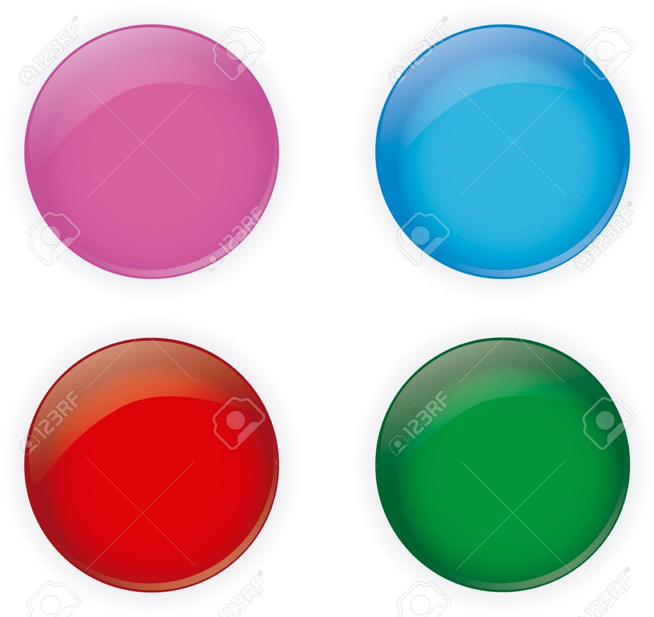 Pack Glossy Buttons,vector illustration Stock Vector - 17590110