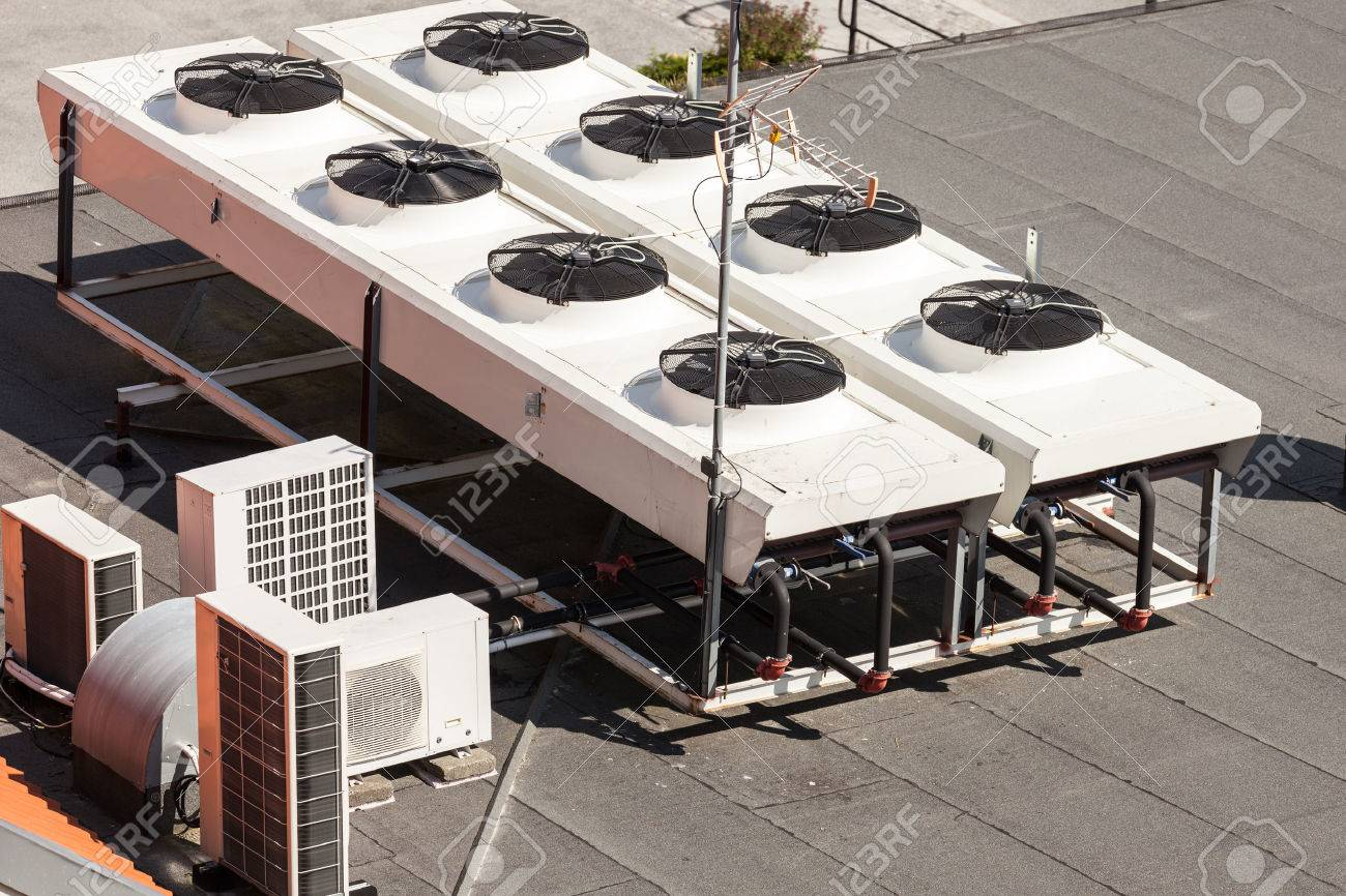 Cooling Tower for a large office building. - 43817810