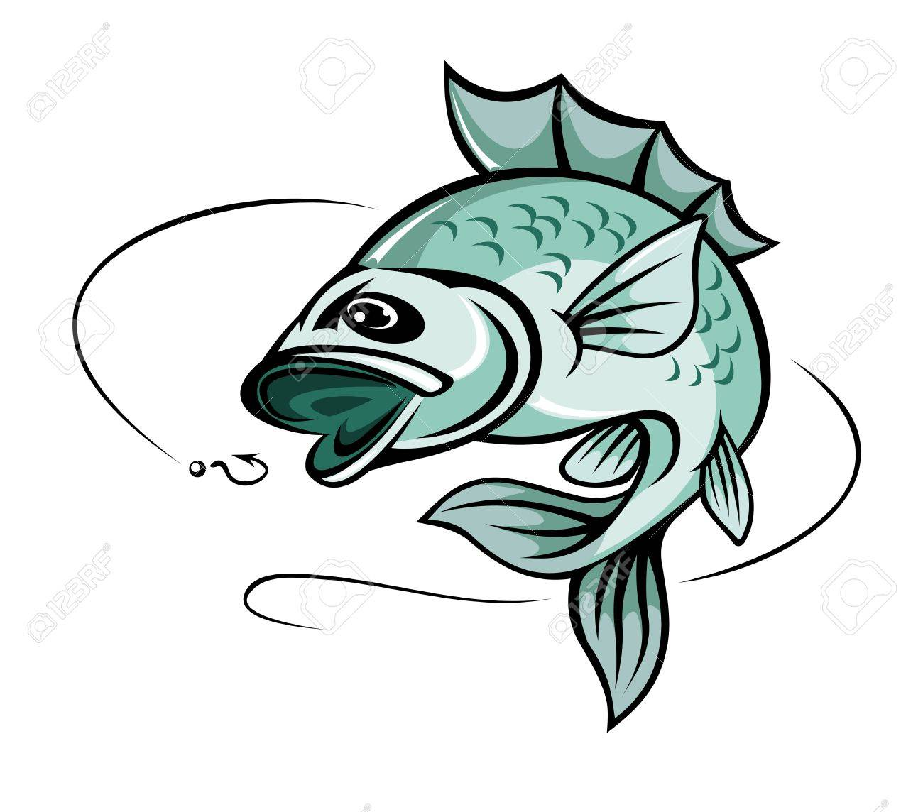 Jumping Carp Fish For Fishing Sport Symbol Royalty Free Cliparts ...