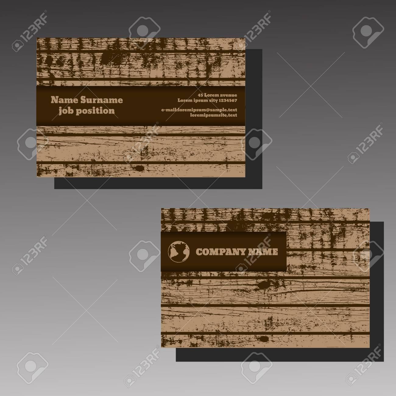Vector Bois Brun Abstraites Cratif Cartes De Visite Eps 10 Clip Art