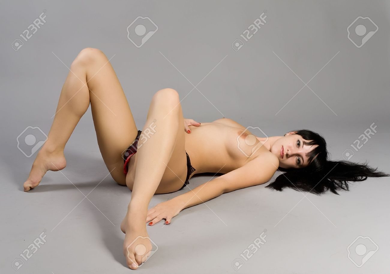 Portrait of the beautiful naked girl with black hair Stock Photo - 12740754