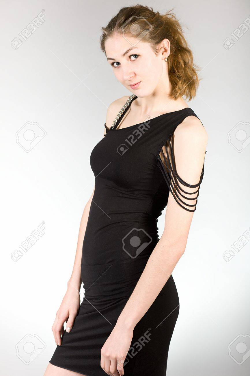 The attractive girl in elegant clothes Stock Photo - 12996424