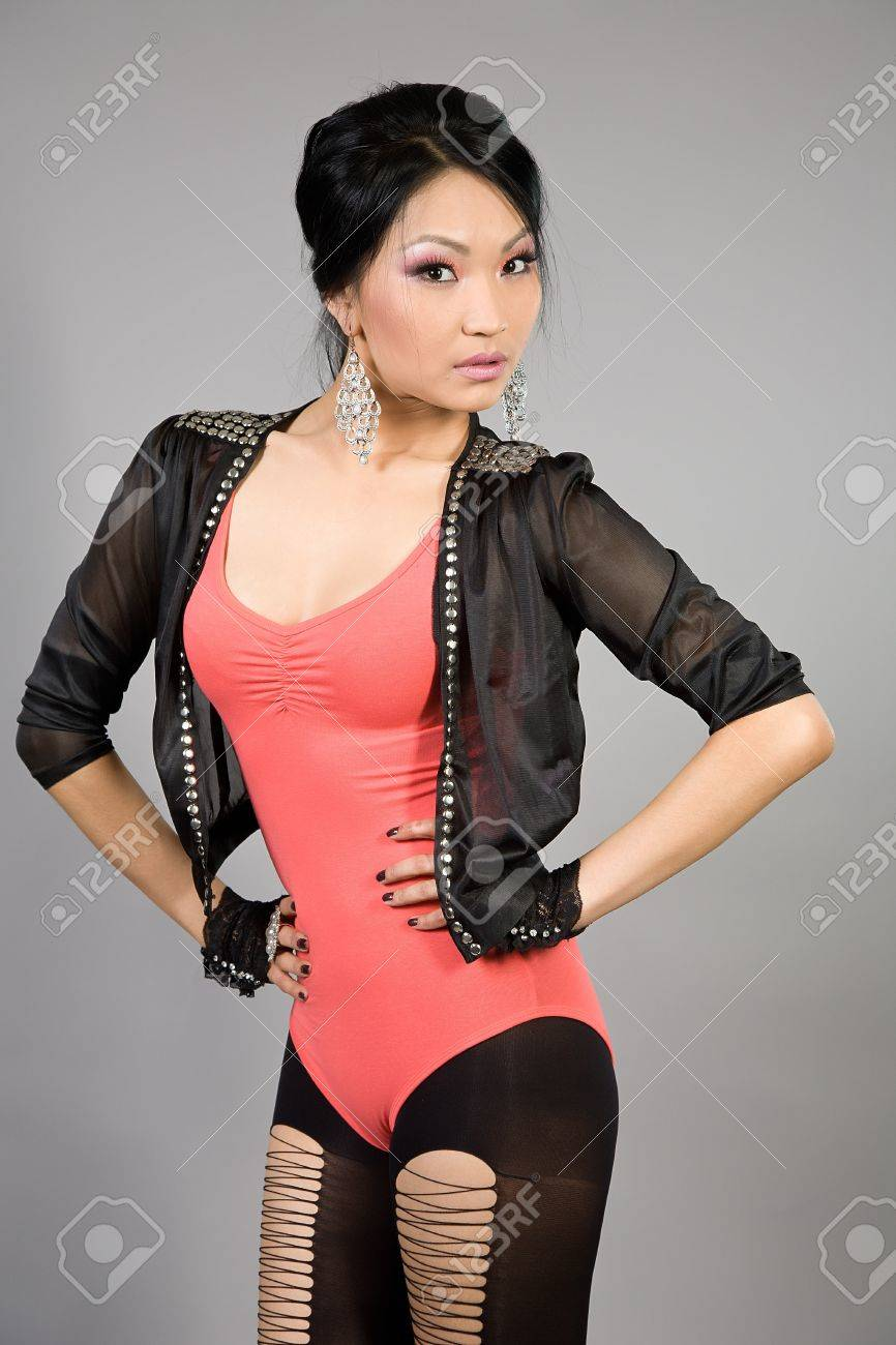 Portrait of the Tuva beautiful girl Stock Photo - 16299617