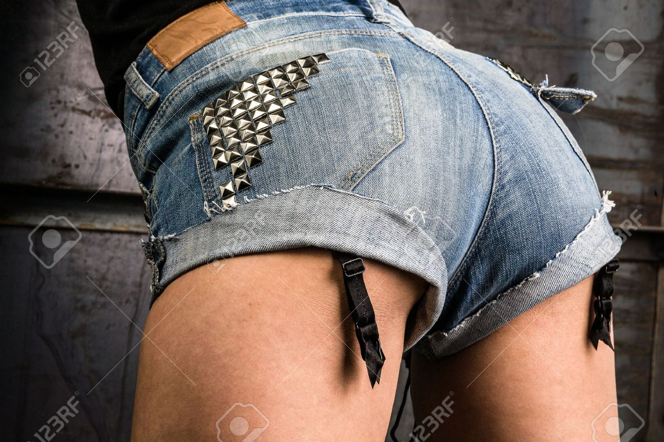 Beautiful Female Ass In Denim Shorts Stock Photo, Picture And ...