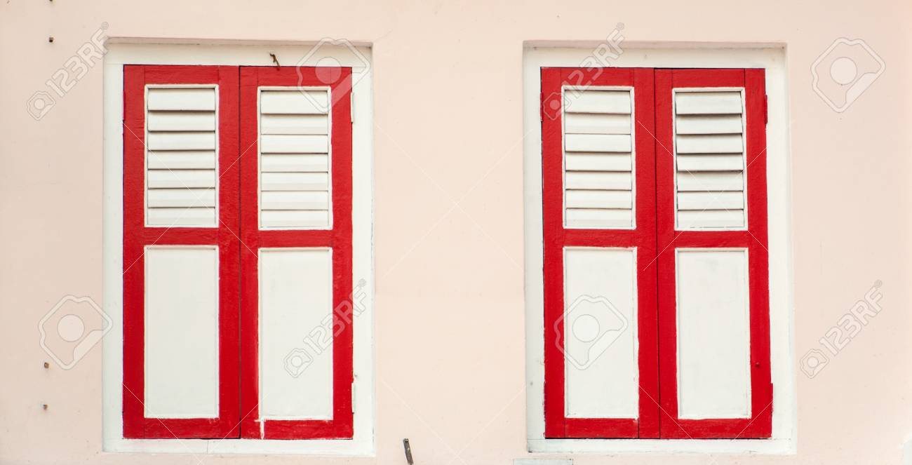 Old classical window where one can use for message and notice board Stock Photo - 20324631