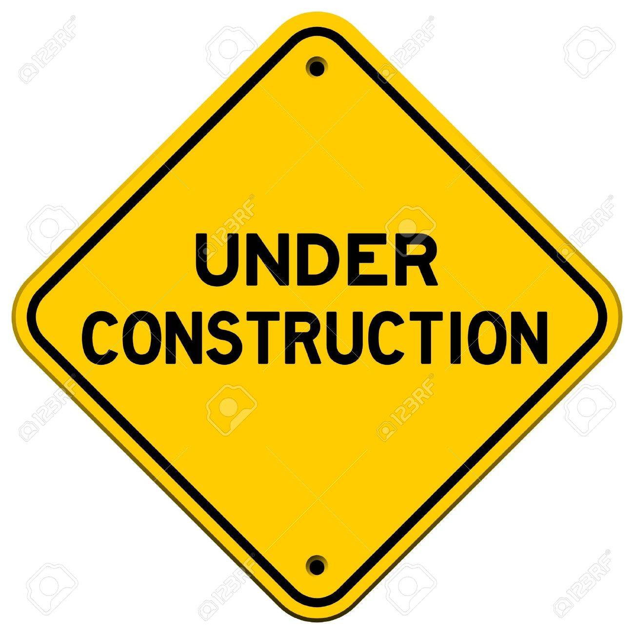 Under Construction Yellow Sign Stock Vector - 9840933