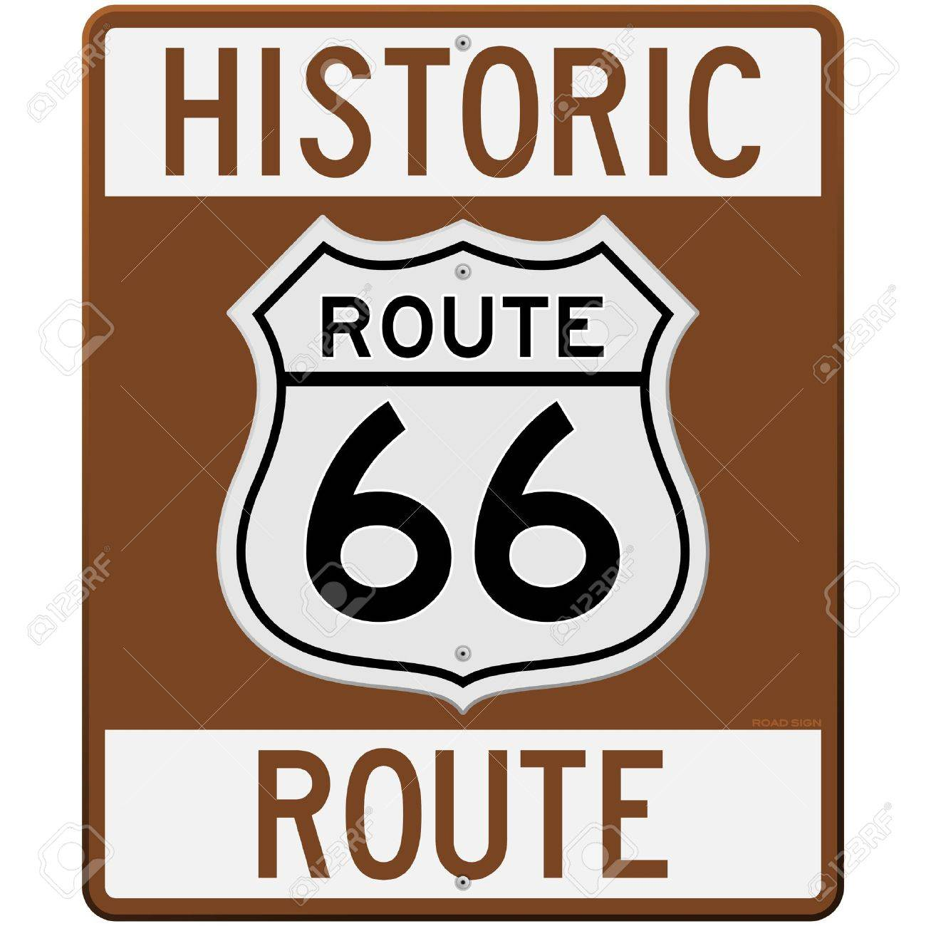 Historic Route 66 Sign Stock Vector - 11640184