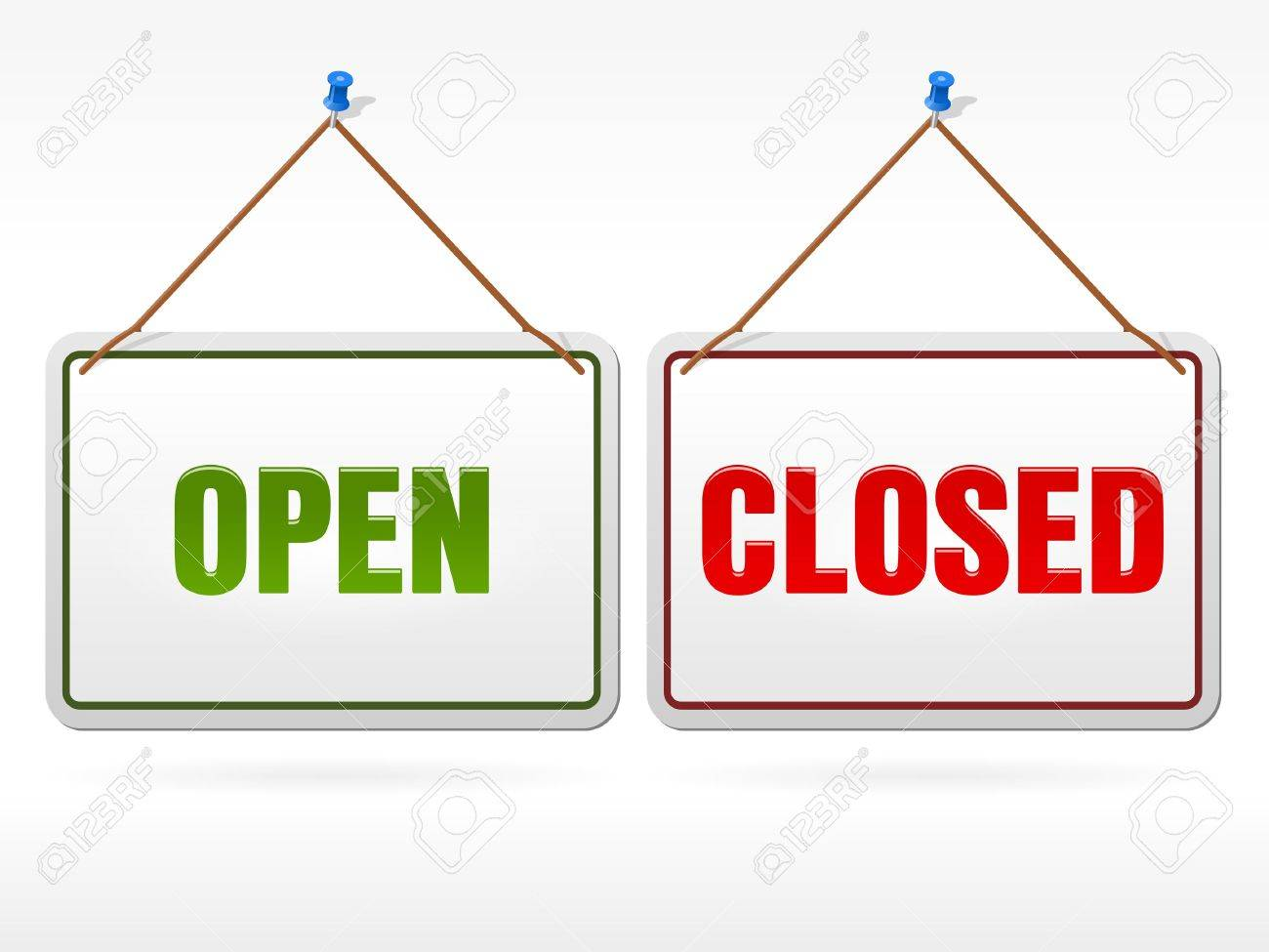 Open and Closed shop sign - 12066852