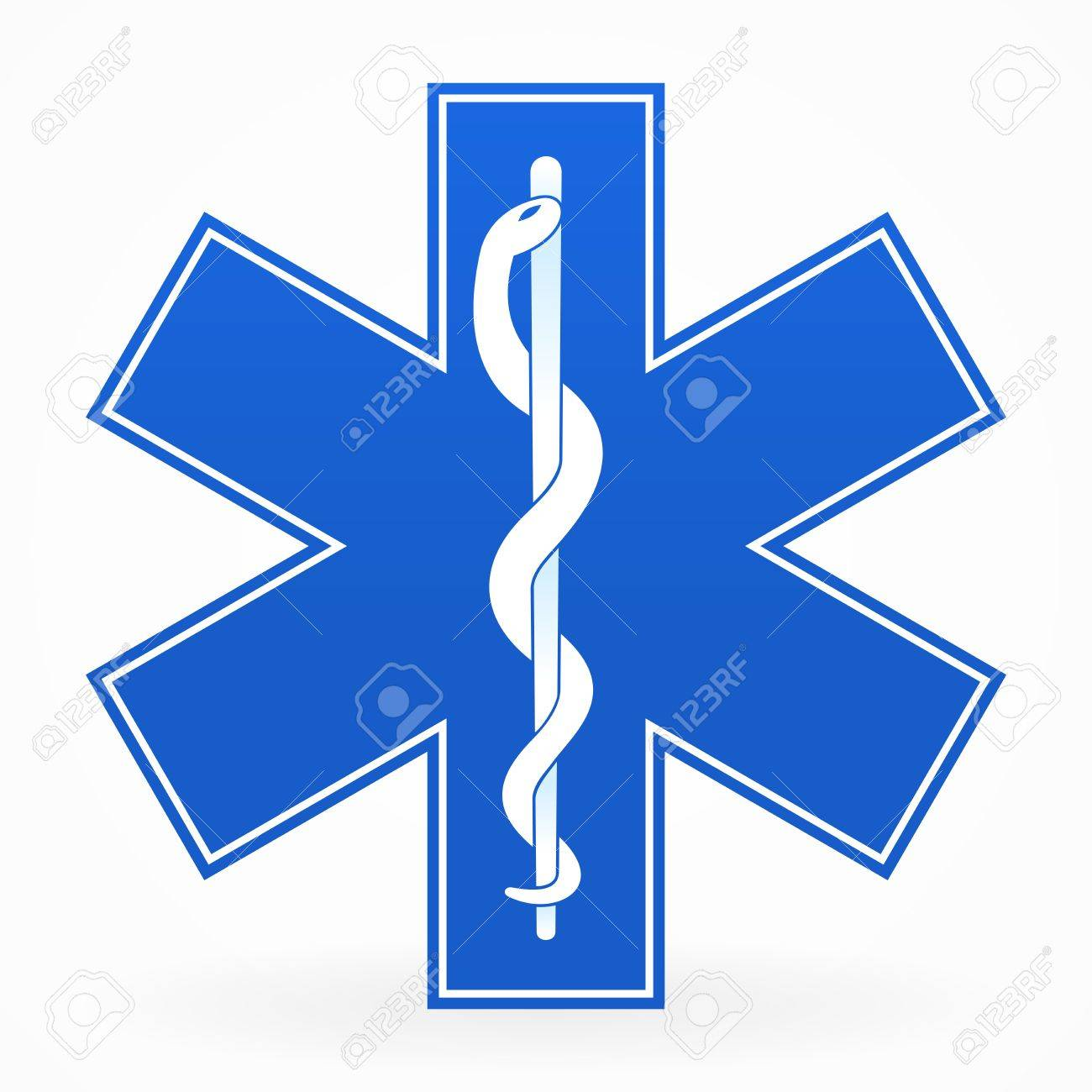 Blue Medical Sign Stock Vector - 12484268