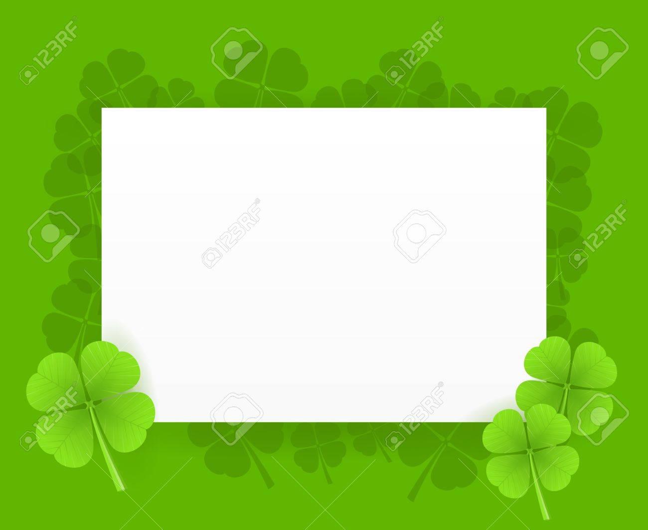 St Patrick Greeting Card Stock Vector - 12484357